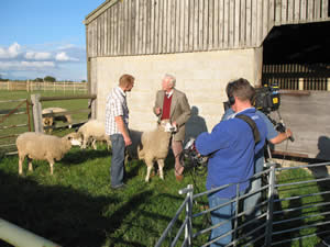 Filming for the BBC's Countryfile at Conygree